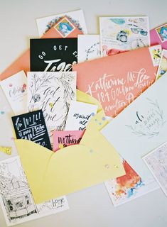 gorgeous lettering and cards
