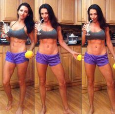 Getting ready for my first ever NPC bikini show with lemon water