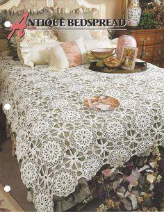 Pattern Afghan Blanket Crochet Antique Bedspread - Annie's Crochet Quilt Afghan…