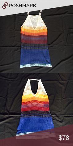 Free people knit crochet tank.  Large Xoxo! Free People Tops Tunics