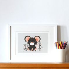 """Personalized poster -  """"les Animignons"""" - the Little Mouse"""