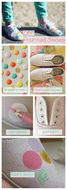 DIY hand painted shoes