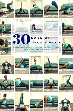Do you have PCOS? Did you know yoga can help make your periods more regular, lower insulin resistance, blood sugar, and androgens, improve acne, hair thinning, and anxious thoughts, as well as reduce facial hair? It can! Click here for a 30 minute video yoga video you can do at home to help with your PCOS symptoms. Videos Yoga, Workout Videos, Yoga For Pcos, Pcos Exercise, Excercise, Fertility Yoga, 30 Day Yoga, Pcos Symptoms, Fitness Workout For Women