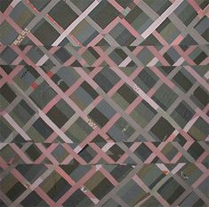 contemporary quilt, pink and gray quilt, lattice quilt by Sarah Nishiura