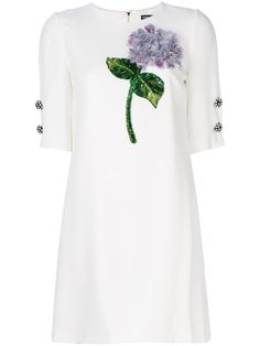 DOLCE & GABBANA hydrangea appliqué dress. #dolcegabbana #cloth #dress