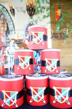 Knight Themed Birthday Party Planning Ideas Decorations Idea Supplies Knight Themed Birthday Party via Kara's Party Ideas Castle Party, Medieval Party, Knight Party, Party Themes For Boys, Dragon Party, Diy Party, Party Ideas, Boy Birthday Parties, Princess Party
