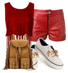 """""""caul walk"""" by janinelolove on Polyvore featuring Magda Butrym, Sperry and Yves Saint Laurent"""
