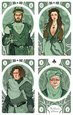 Game of Thrones by Simona Bonafini. Renly Baratheon, Margaery Tyrell, Loras Tyrell, and Lady Olenna.