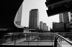 #B/W #cityscape of one of #bangkoks #skytrain stations