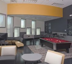 church youth room | Very adult colors. The teenagers would love it.