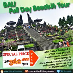 Liburan ke #Bali jangan lewatkan untuk jalan-jalan ke #Besakih. Yuk kunjungi pura terbesar yang berada di Pulau Bali sekarang juga! Kini tersedia paket Full Day Besakih #Tour dengan harga spesial lho!  Dapatkan Spesial Paket tersebut dari #LiburYuk http://liburyuk.com/bookitem/140/2014-06-20/FULL-DAY-BESAKIH-TOUR- #AbbeyTravel #jalan2 #holiday