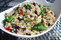 """RECIPE: Vegan Mediterranean Rice Salad FROM: www.savvyvegetarian.com Our small group had a Mediterranean-themed potluck last month. When I googled something like """"vegan mediterranean recipe,"""" I stumbled upon this awesome salad. And I'm SO glad I did! I'm also glad I found Savvy Vegetarian, which is full of really great vegetarian/vegan advice, recipes, articles, etc. Check...Read More »"""