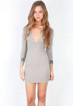 Bec & Bridge Cuff Dress in Taupe