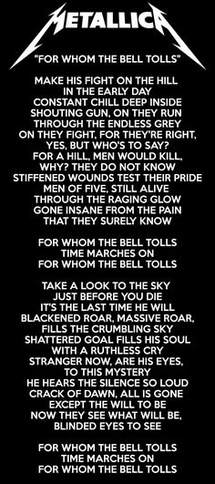 ITS THE LAST TIME YOU WILL!!   \\m/ Metal \\m/   Pinterest   Metallica ...
