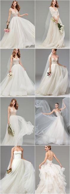 Featured A-Line Wedding Dress: Watters; www.watters.com
