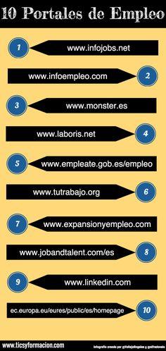 10 Portales de Empleo #infografia