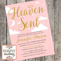 Heaven Sent Baby Shower Invitations Awesome Heaven Sent Baby Shower Invitation P. Heaven Sent Baby Shower Invitations Awesome Heaven Sent Baby Shower Invitation Printed Invitation P Chanel Baby Shower, Floral Baby Shower, Printable Baby Shower Invitations, Baby Shower Printables, Invitation Ideas, Navy Baby Showers, Baby Boy Shower, Baby Shower Images, Mickey Mouse Birthday Invitations