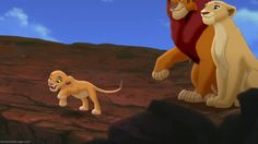 "Simba & Nala with their daughter Kiara in ""The Lion King 2: Simba's Pride"""