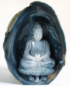 Buddha Carved into Agate.