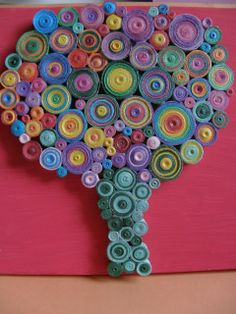 Circul Magic Shop: Tablouri Quilling / Quilling Canvas - Colorful Tree 1 - SOLD