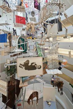 Maurizio Cattelan's installation at the Guggenheim NYC