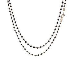 Anaconda - Black Diamond Gancio Piccolo Rosary Necklace in Gift Guides Black Diamond Friday! at TWISTonline