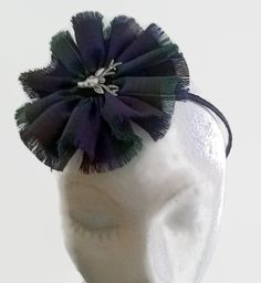 Scottish Tartan Fascinator head band stag Head by AillisWonderland