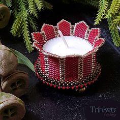 Beading pattern - Candle Holder 'Turrets'