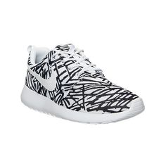 Nike Women's Roshe One Print Casual Shoes, White ($80) ❤ liked on Polyvore featuring shoes, athletic shoes, white, nike, nike athletic shoes, nike footwear, low shoes and retro shoes