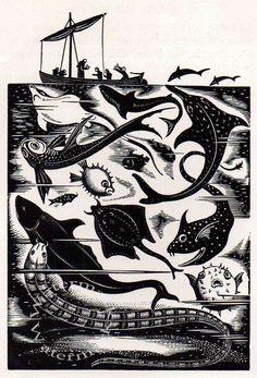 1934 Vintage Print by Robert Gibbings Sea by TwoJaysGallery