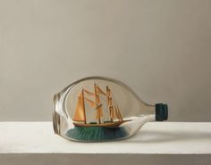 Ship in a Bottle, 2015 I Oil on panel I 11 x 14 inches - Dan Jackson