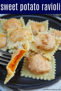 These sweet potato ravioli combine homemade egg pasta with a smooth and flavorful sweet potato filling. Yes, they take a little effort like any homemade ravioli but they are easier than you might think. And you'll soon see, very much worthwhile. Comforting and delicious in every bite.