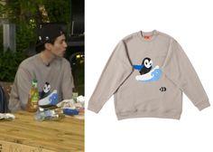 "Lee Dong-Wook on ""Roommate"" Episode 8.  Lucky Chouette Surfing Bebe Sweatshirt #Roommate #룸메이트 #LeeDongWook #이동욱"