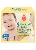 JOHNSON'S® Baby HEAD-TO-TOE® Washcloths | JOHNSON'S® Baby