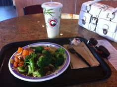 Quick dinner at Panda Express in Bentonville, AR! Lots of fresh veggies and grilled steak.