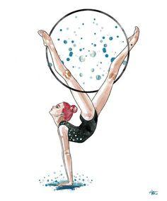 Cute Cartoon Drawings, Cute Animal Drawings, Cool Art Drawings, Pencil Art Drawings, Ballet Drawings, Dancing Drawings, Gymnastics Wallpaper, Hand Kunst, Dibujos Zentangle Art