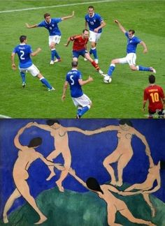 Who said football isn't art?