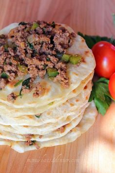 Homemade Flat Bread Wraps on http://momwhats4dinner.com/homemade-flat-bread-wraps/