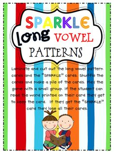 Now that we've introduced so many long vowel patterns some of our kids are having trouble applying everything they've learned when they get . Word Study, Word Work, Sparkle Game, Blends And Digraphs, Teaching Reading, Reading Activities, Guided Reading, Learning, School Fun