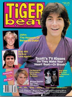Erik Estrada, Chris Atkins, John Schneider, KISS, and Scott Baio- cover. October 1980 Tiger Beat magazine. I have many teen magazines in my inventory, so check them out!   eBay!