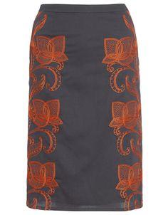 Monsoon - Dori Embroidered Skirt