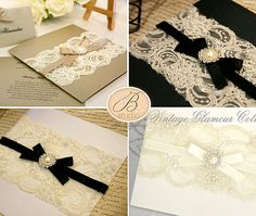 Lace Wedding Invitations | Vintage Glamour Invitations