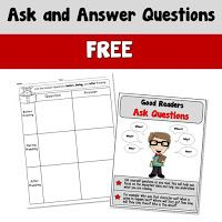 Ask and Answer Questions FREE Ask and Answer resource. Use the poster to remind students about asking and answering questions while reading. Use the graphic organizer to write questions as they read. Good Readers, Struggling Readers, Teacher Freebies, Teacher Resources, Classroom Resources, Reading Resources, Reading Strategies, Student Picture, Creative Teaching
