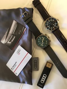 Al Vazquez ready for the Audi A4 event in San Diego. Maurice de Mauriac - Swiss luxury watches for men and women.