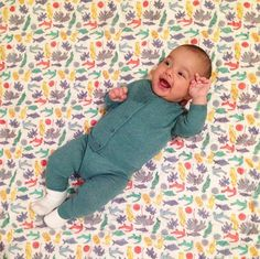 Can't keep them from smiling when they are on our quilts! Baby quilts, sheets, bolsters, and pajamas all available now online at www.ecruonline.com #ecru #baby #quilts #thelilones #tropics #hearwaveprint We also provide gift wrapping for your Baby purchases if you wish.