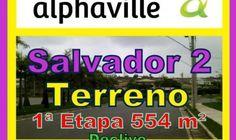 Terreno a venda, Alphaville Salvador 2, 1ª Etapa, 554 m².  Lote residencial, nascente em declive, localizado no final setor ¬¬1, Alphaville Salvador II, com área de 554,62 m², sendo 14,5 metros de frente. O Alphaville Salvador 2 tem um dos melhores sistemas de segurança do Brasil, com um modelo de ocupação de baixa densidade. Ocupando uma área de 853.344m², Alphaville Salvador 2 possui 528 lotes residenciais,