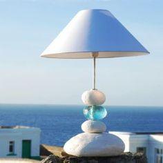 Blue Ocean Wave Table Lamp
