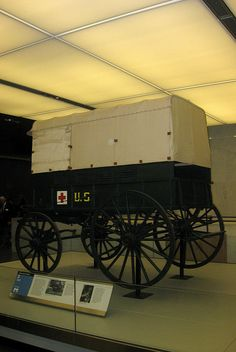 Clara Barton's Red Cross ambulance. Dusted.