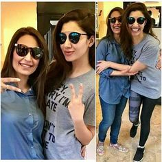 Picture perfect! Two gorgeous and well spoken ladies in one frame ❤ . #mahirakhan #reemakhan
