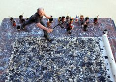 otherworldly: optical delusions and small realities - 37 miniature worlds by various artists [jackson pollock by joe fig, 2008 + links to other images]